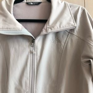 The north face wind wall jacket coat tan lined xl